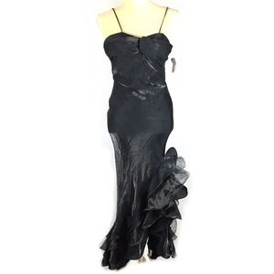 Vintage 90's grunge formal prom event ruffle dress